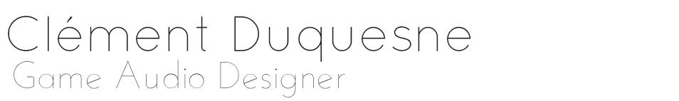 Clément Duquesne – Portfolio